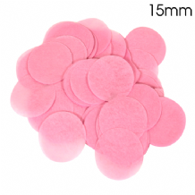 Light Pink Tissue Paper Confetti | 15mm Round | 14g Bag